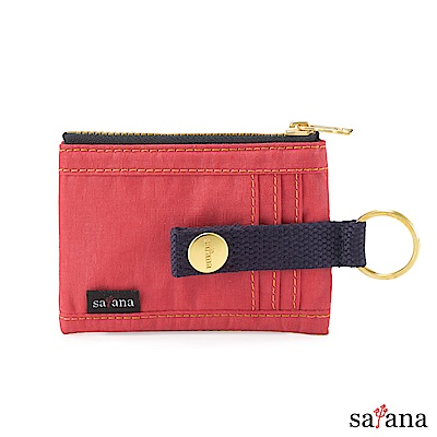 satana - 繽紛卡片夾/零錢包 - 洛可可紅
