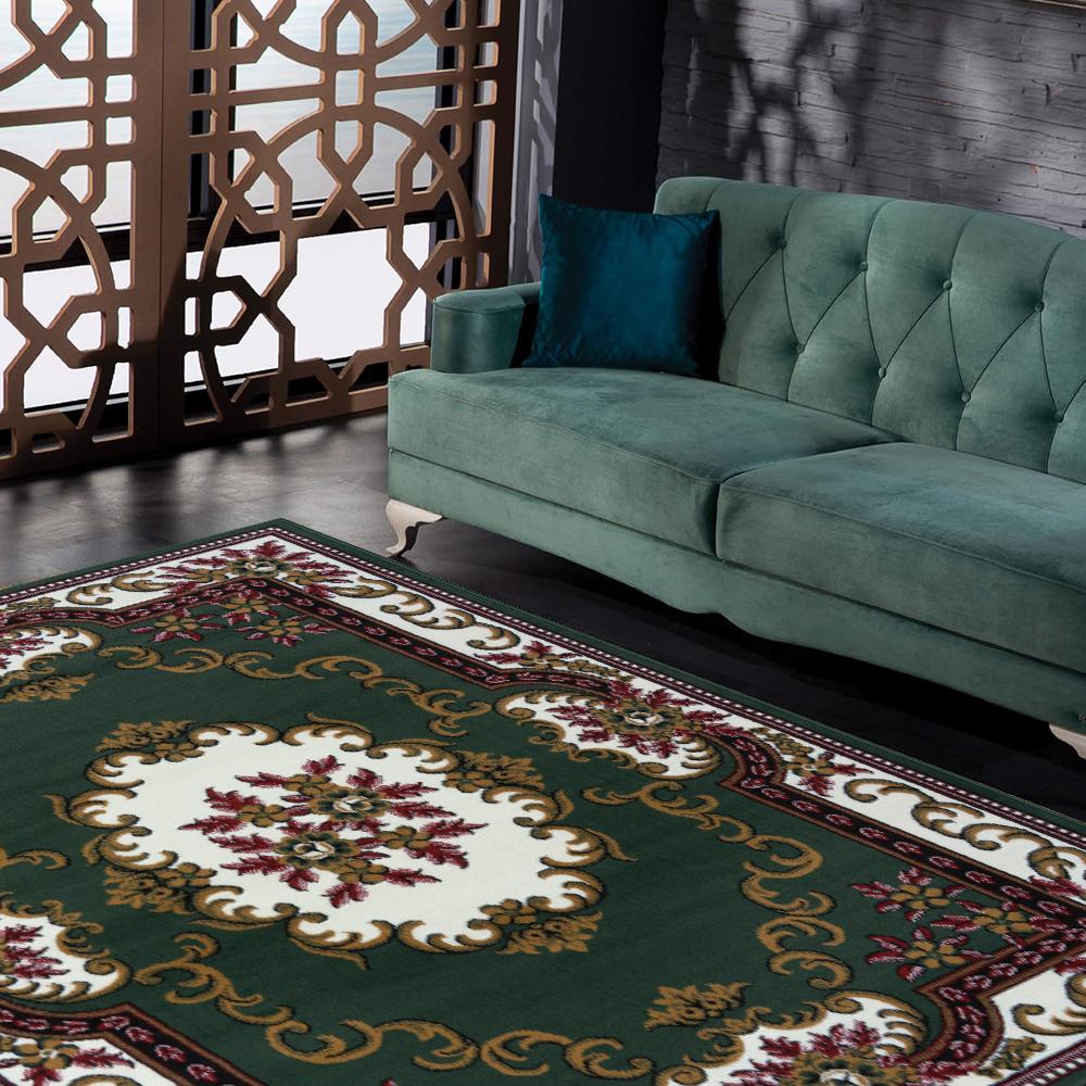 Ambience 比利時Shiraz 古典地毯-巴洛克綠 (160x230cm)