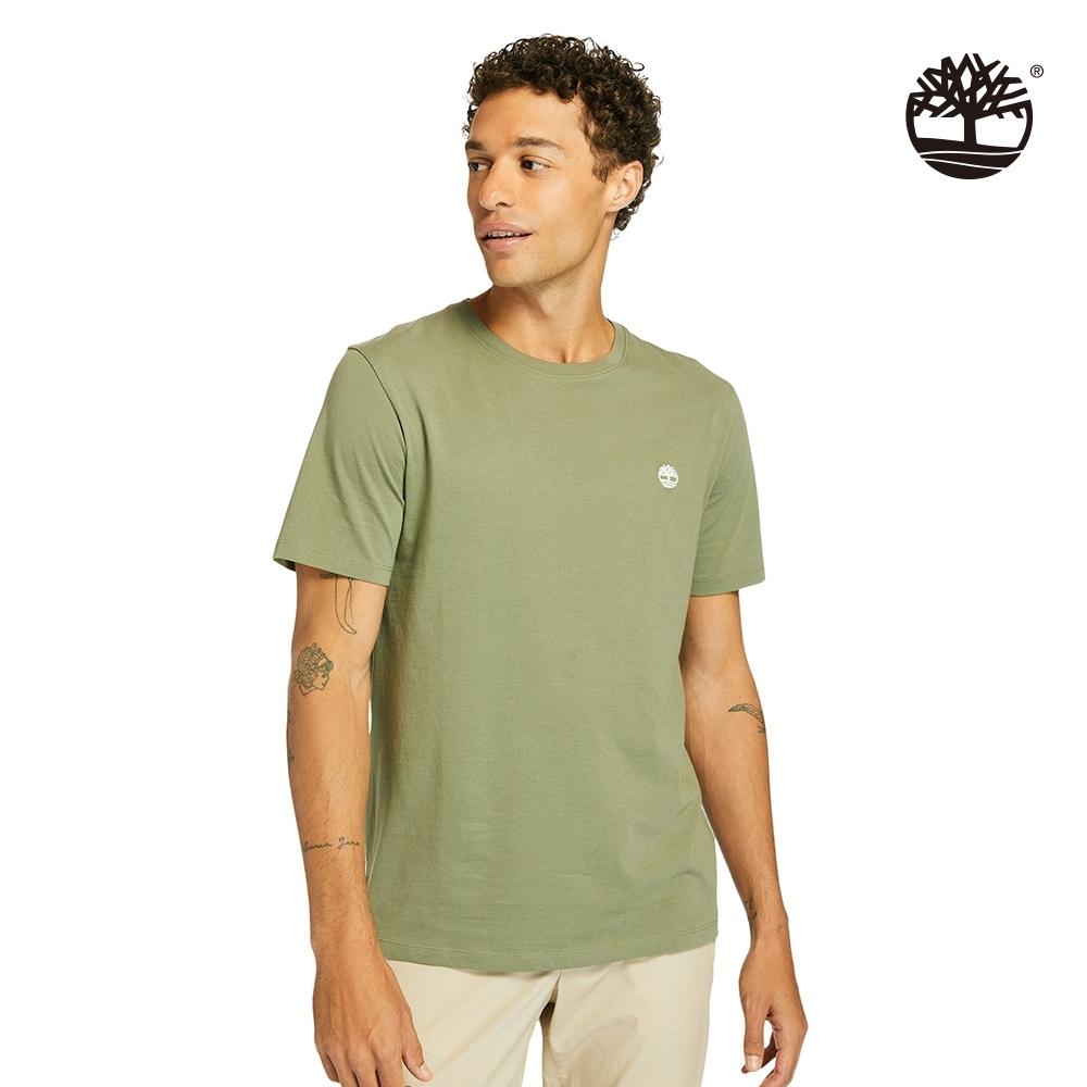 Timberland 男款卡塞爾深綠色樹形刺繡Logo有機棉短袖T恤|A2ER7