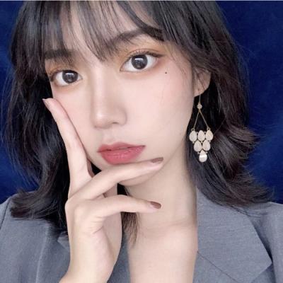 梨花HaNA 韓國925銀古典香檳公主耳環