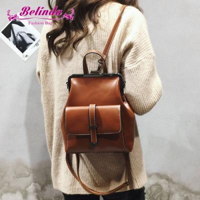 【Belinda】富恆造型二用後背包(棕色)