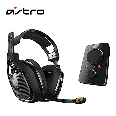 (送PS4隻狼)羅技 ASTRO A40電競耳麥+混音擴大器組幻影黑