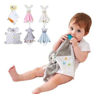 KONIG KIDS【2入】嬰幼兒安撫巾 動物玩偶睡眠毛絨啃咬毛巾