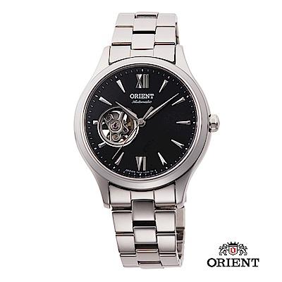 ORIENT 東方錶 ELEGANT系列 優雅小鏤空機械錶 鋼帶款 黑色 36mm
