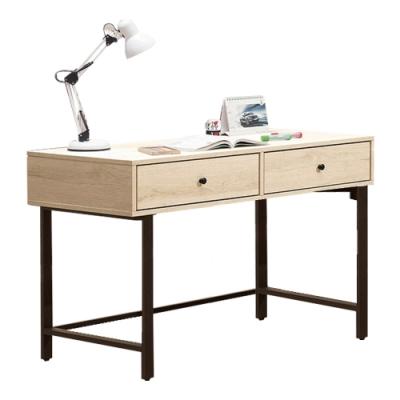 文創集 法尼亞 現代4尺二抽書桌/電腦桌-120x60x79cm免組