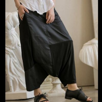 設計所在Style-復古乞丐補丁休閒吊襠褲哈倫褲