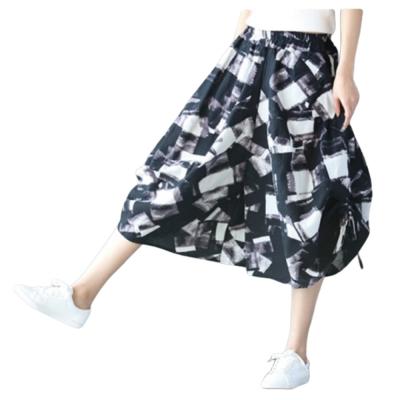 【LANNI 藍尼】棉麻寬鬆七分長褲-多色可選(寬鬆版型)●