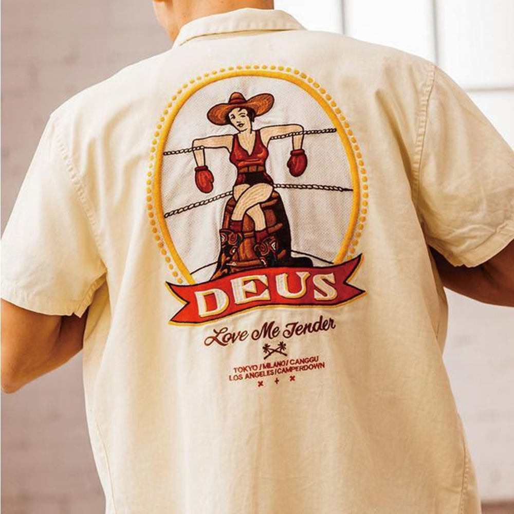 Deus Ex Machina Castillo Shirt 短袖襯衫-黃 (男/女)