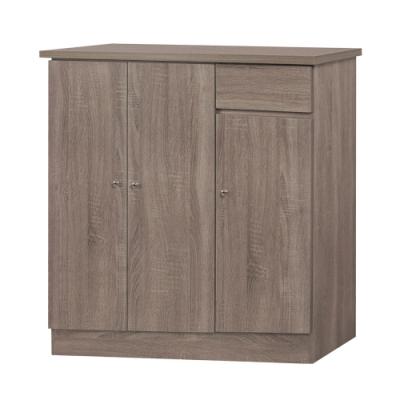綠活居 帕迪現代風3.1尺三門單抽鞋櫃/玄關櫃-92x34x92cm免組