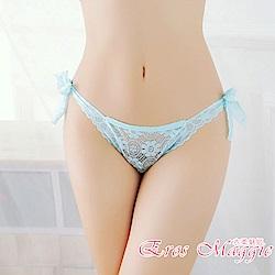 內褲 全蕾絲超彈力綁帶內褲 EM衣柔魅姬(藍色)