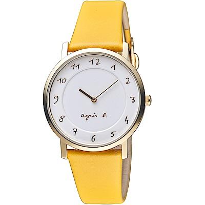 agnes b.30週年紀念限定手錶(VJ20-KCW0Y)-黃