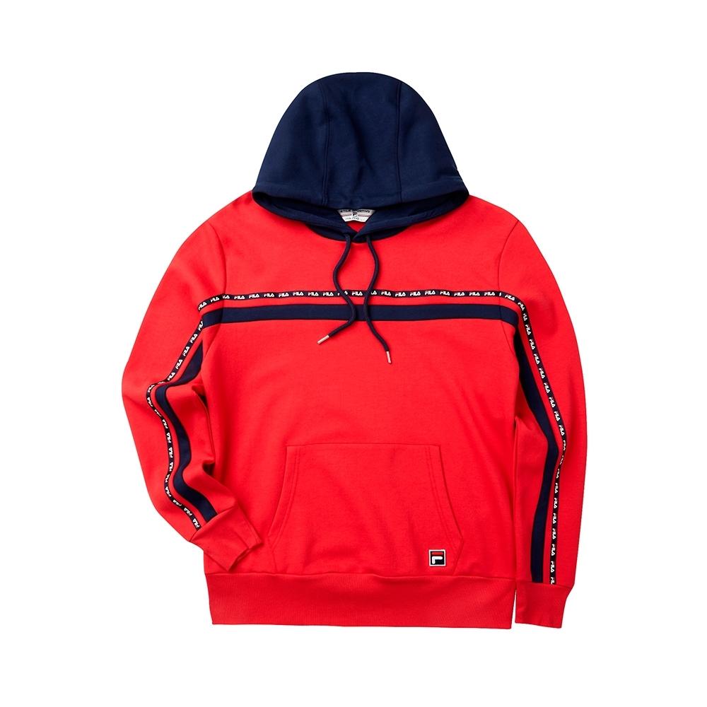 FILA #LINEA ITALIA 長袖連帽T恤-紅 1TET-5408-RD
