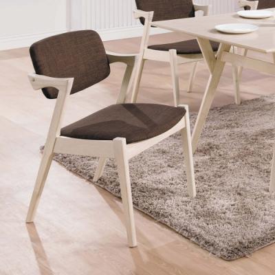H&D 伯尼原木洗白咖布餐椅