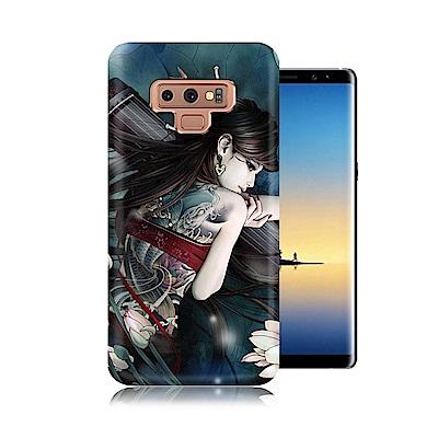 張小白授權 Samsung Galaxy Note9 古典奇幻插畫 滿版空壓保護...