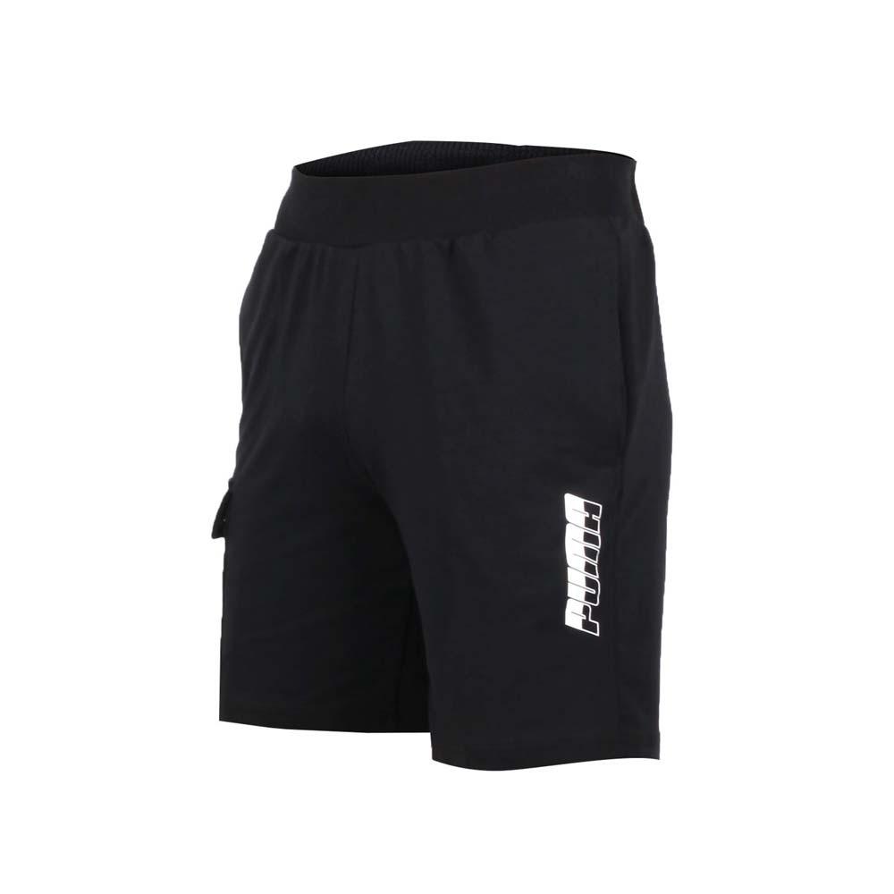 PUMA 男基本系列9吋短褲-慢跑 路跑 黑白