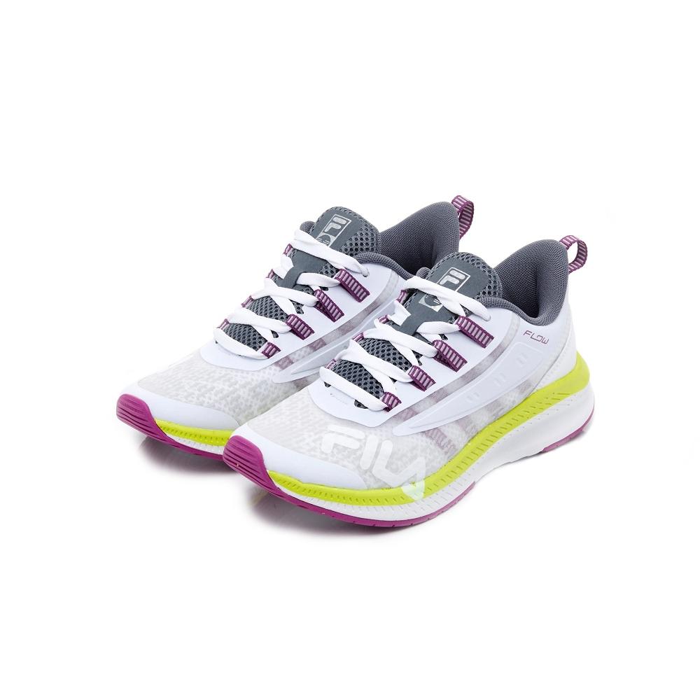 FILA WAVELET ALPHA 中性慢跑鞋-白紫 4-J537U-139