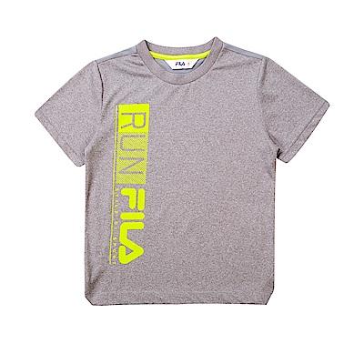 FILA KIDS 童吸濕排汗上衣-麻灰 1TET-4305-MY