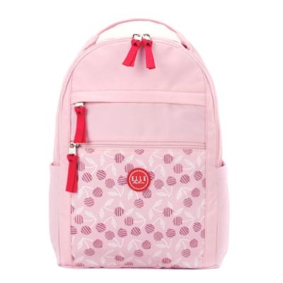 ELLE Active 法式櫻桃系列-後背包-粉紅色