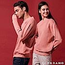 GIORDANO 中性款素色寬鬆落肩大學TEE-92 乾燥玫瑰粉
