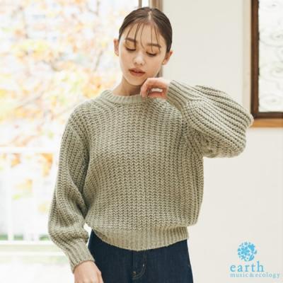 earth music 蓬鬆感粗針織上衣
