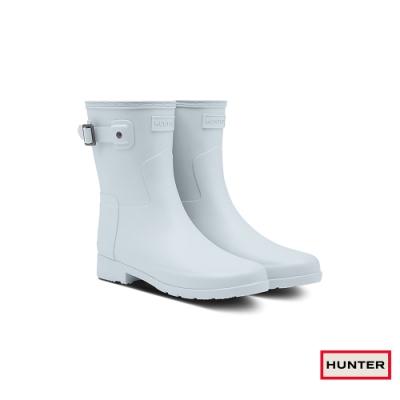HUNTER - 女鞋 - Refined霧面短靴 - 灰白