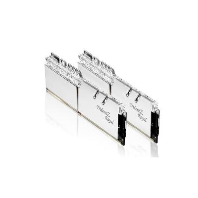 G.SKILL芝奇 Trident Z Royal 皇家戟系列(銀) DDR4-3200MHz 16GB桌上型電競記憶體(8G*2)