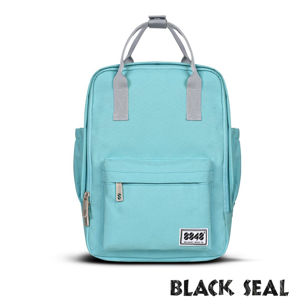 BLACK SEAL 聯名8848系列-多隔層休閒小方型後背包-蔚藍BS83008