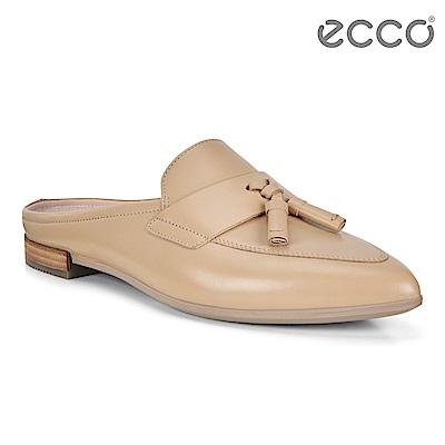 ECCO SHAPE 復古流蘇正裝穆勒平底鞋 女-裸色