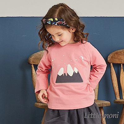 Little moni 圓領立體刺繡毛圈上衣(共2色)
