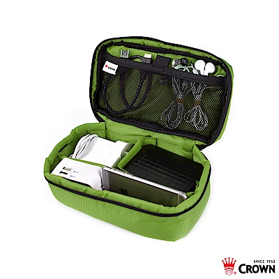 CROWN 皇冠 防水防撕裂 線材小工具包 綠色