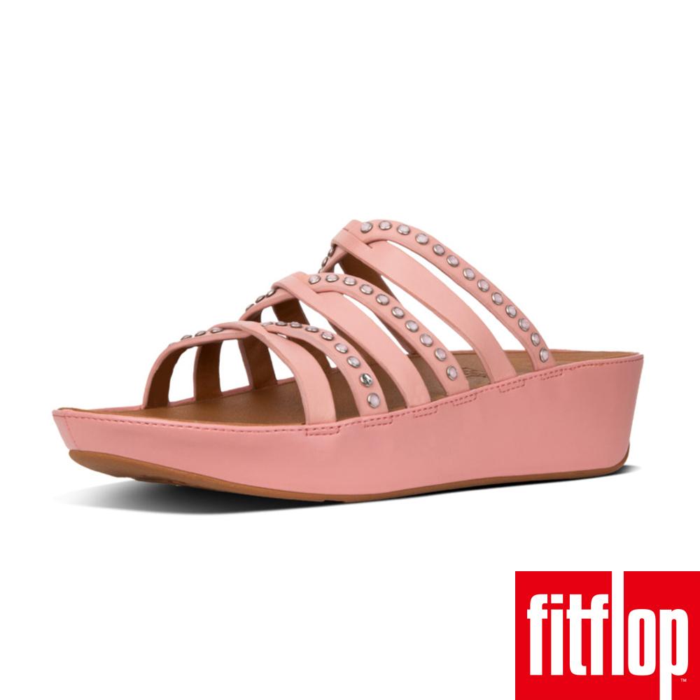 FitFlop LINNY SLIDE SANDALS - CRYSTAL 灰粉