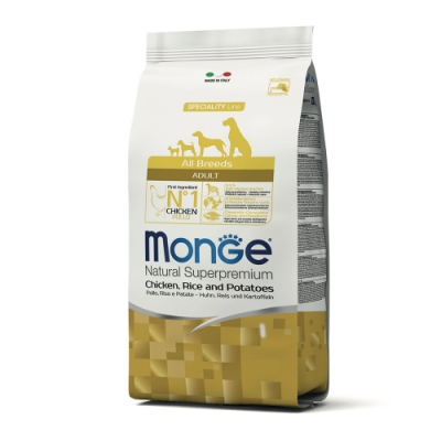 Monge瑪恩吉 天然呵護 成犬糧(雞肉+米+馬鈴薯)2.5kg