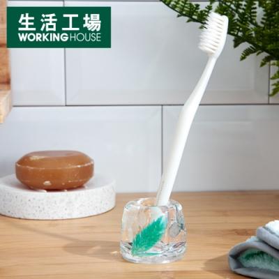 【SALE優惠大解封↓3折起-生活工場】Elegant花語牙刷座-藍