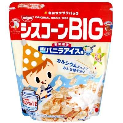 Nissin BIG早餐玉米片-鹽味香草冰淇淋(190g)