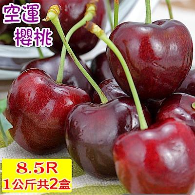 愛蜜果 空運美國加州櫻桃禮盒8.5R共2盒(約1KG/盒)