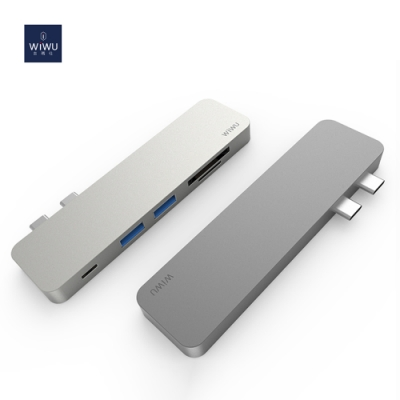 WIWU Type-C 五合一多功能轉接器 USB 3.0 HUB充電傳輸集線器