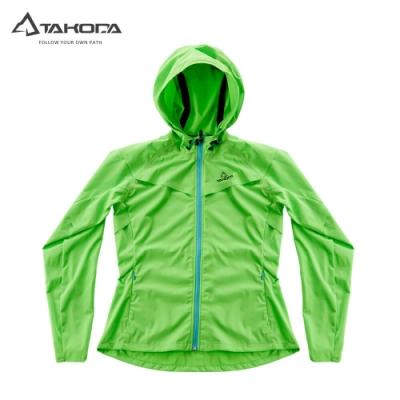 TAKODA 輕薄防風防水透氣連帽機能外套 女款 螢光綠