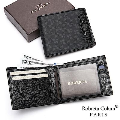 Roberta Colum - 尊爵格調頭層牛皮8卡1照左右翻短夾