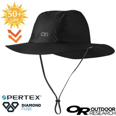Outdoor Research 輕量防水透氣抗紫外線中盤帽(UPF 50+).圓盤帽_黑