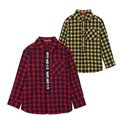 WHY AND 1/2 格子棉質襯衫 5Y~10Y 多色可選