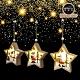 交換禮物-摩達客 木質彩繪星星型聖誕吊飾三入組(LED電池燈) product thumbnail 1