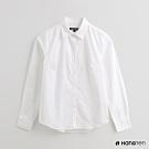 Hang Ten -女裝 - 簡約純色長袖襯衫 - 白