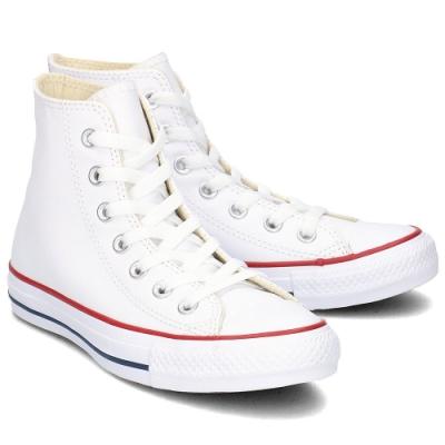 CONVERSE ALL STAR 男女款 高筒帆布鞋-白 132169C