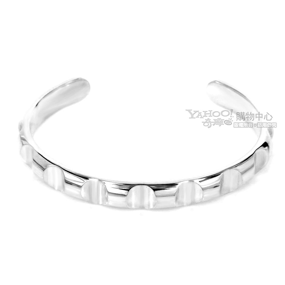 Tiffany&Co. 律動波紋925純銀窄版手環