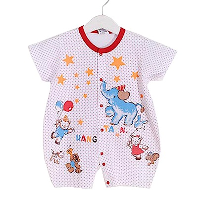 點點動物印花短袖連身衣 k50380 魔法Baby