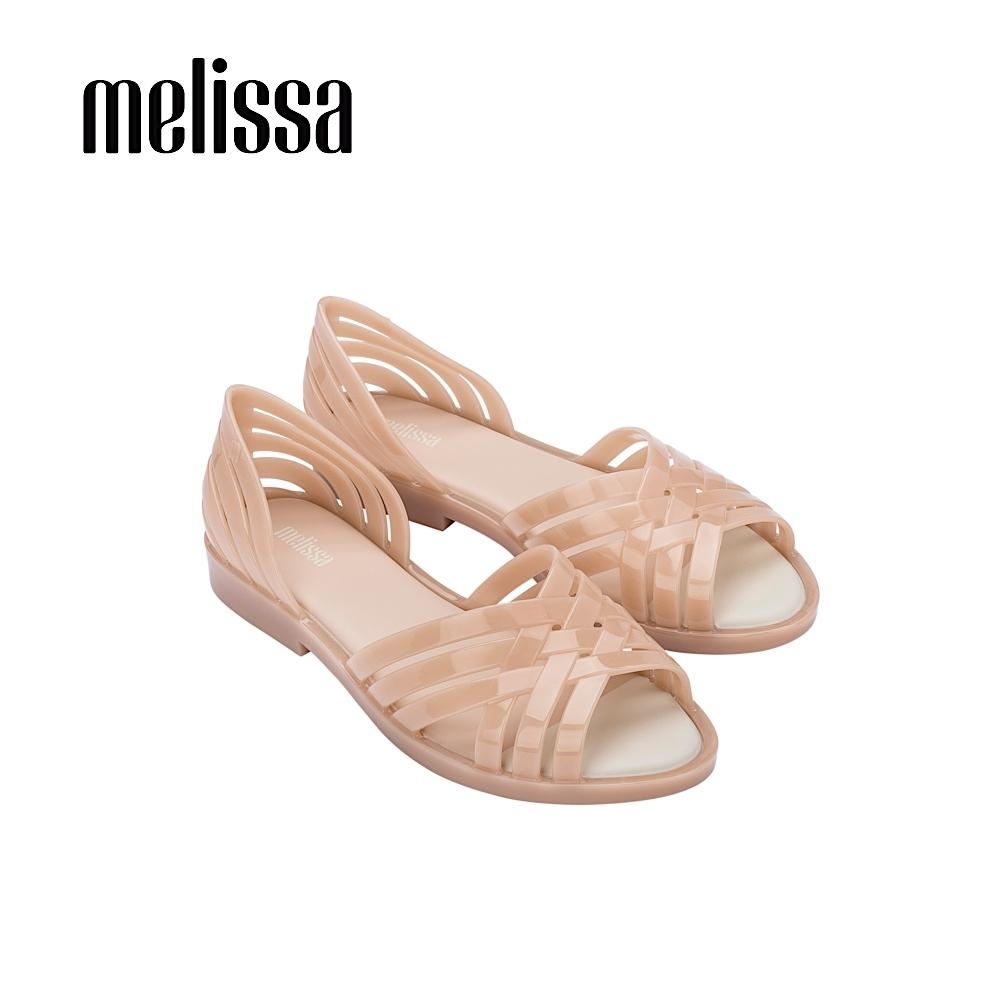 Melissa  FLORA  果凍感交叉設計涼鞋- 杏