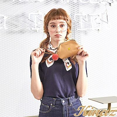KINAZ x PEANUTS™ 童趣冒險手拿零錢包-焦糖咖啡-好日子系列-快