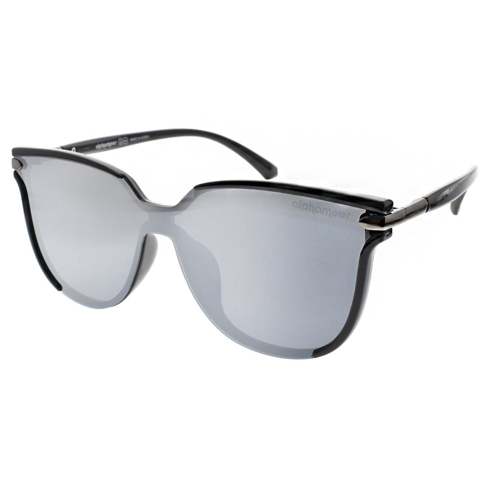 Alphameer偏光太陽眼鏡 許瑋甯代言/黑-淡白水銀#AM604 C5