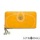 SPRING-日光系列-雙面拉鍊長夾-太陽黃