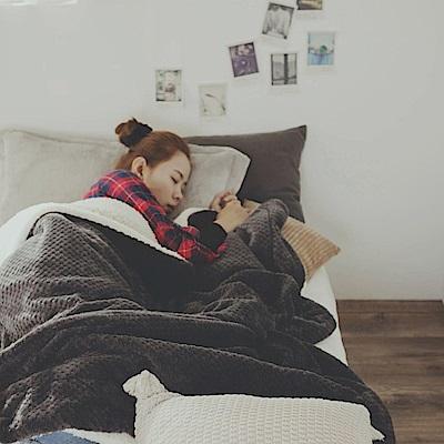 絲薇諾 鐵灰 Warm Warm羊羔絨毯/毛毯-150×200cm